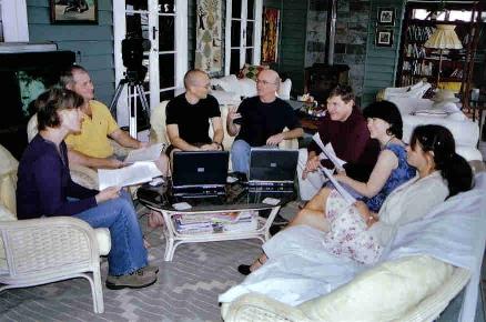 Group critique at Rowan House