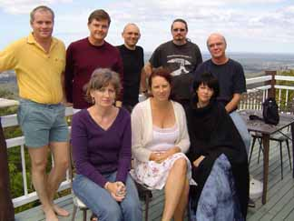 clockwise from rear left, Mark Curtis, Paul Garrety, Sean Williams, Jason Nahrung, Robert Hood, Deb Soukup, Nea Boville and Michele Cashmore