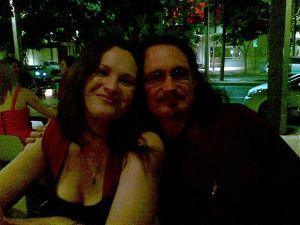 angela slatter and me at dinner