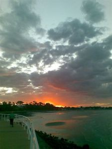 sunset at Shorncliffe