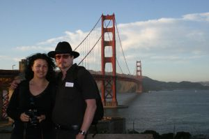 kirstyn and jason at golden gate bridge, san francisco