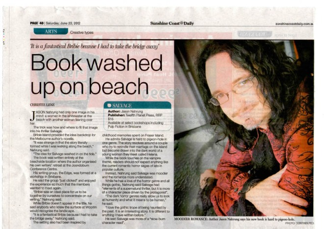 salvage article in sunshine coast daily