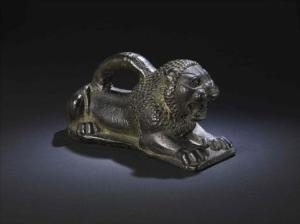 lion weight from mesopotamia exhibit at melbourne museum