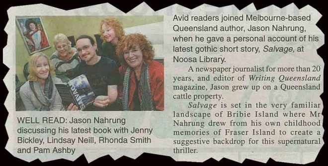 noosa clipping for salvage library visit