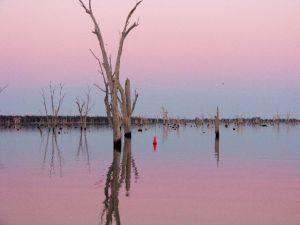 Sunset over Lake Mulwala
