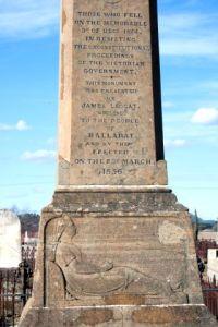 Diggers' Eureka memorial, Ballaarat Old Cemetery, Ballarat