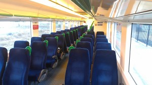 empty v/line carriage