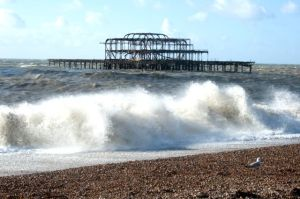 brighton beach and burnt pier