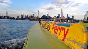 Williamstown Ferry approaching Melbourne
