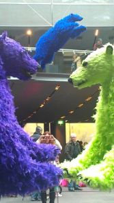 Feathered polar bear installation You started it ... I finish it, by Paola Pivi, at NGV