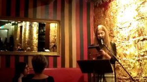 Bri Lee reads at the Moat in Melbourne.