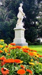 Spring statue, botanical gardens.